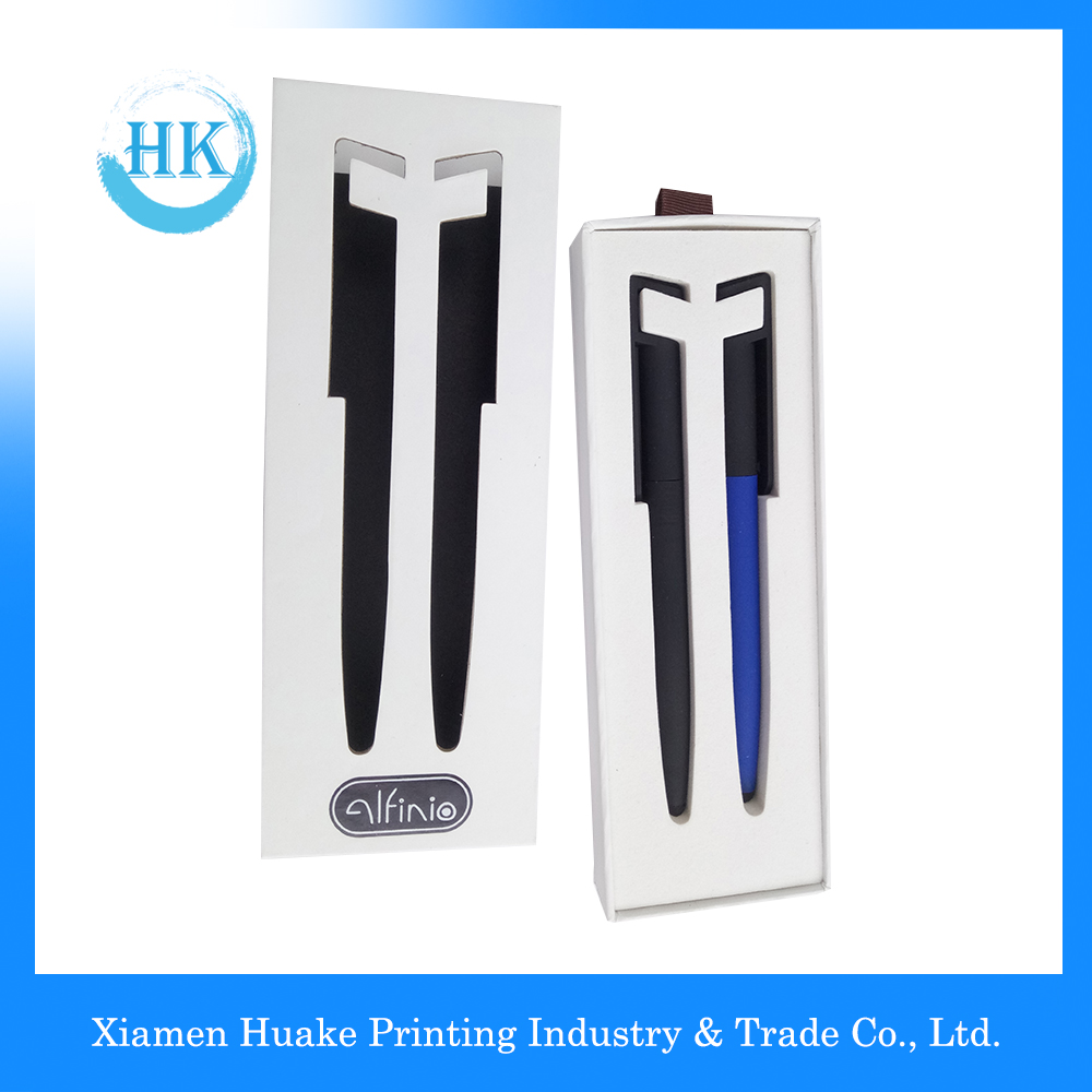 Fashionable Slip Fit Universal Smart Pen Box With Ribbon